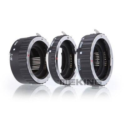 Meking auto focus metal Primer plano adaptador anillo Macro extensión tubo anillo para Canon EOS 5 DIII 70D 700D