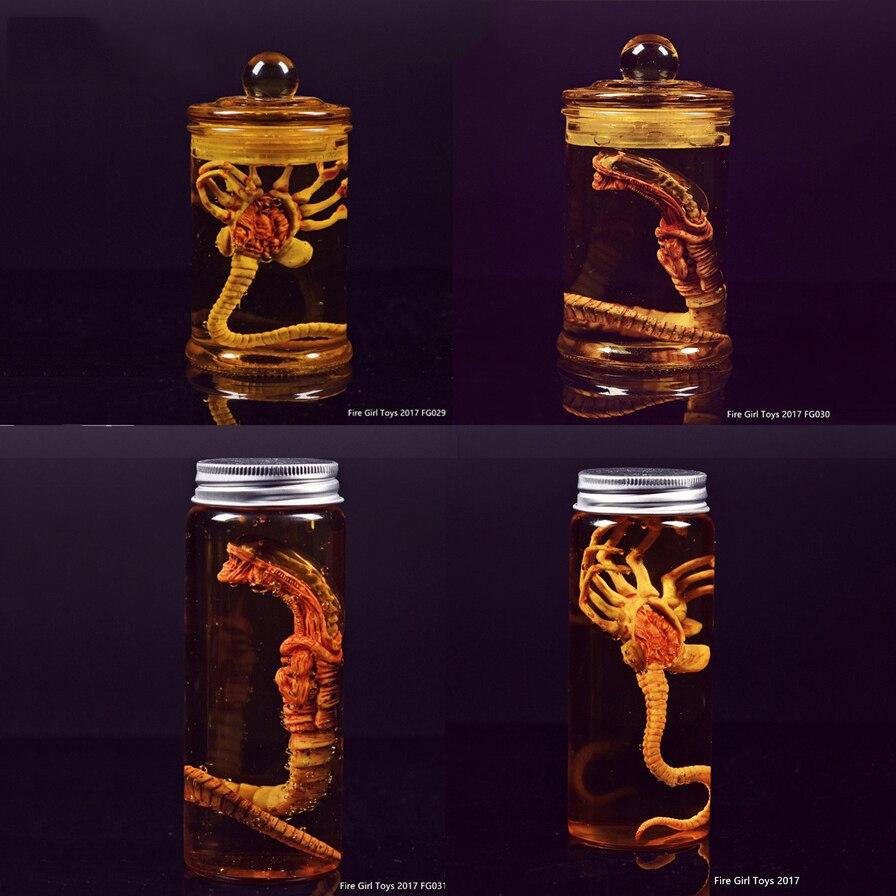 Хищник Alien Larva Face Bug + стеклянная бутылка для стрельбы, игрушки для девочек, нагрудник, лицевой протектор, бак для культуры