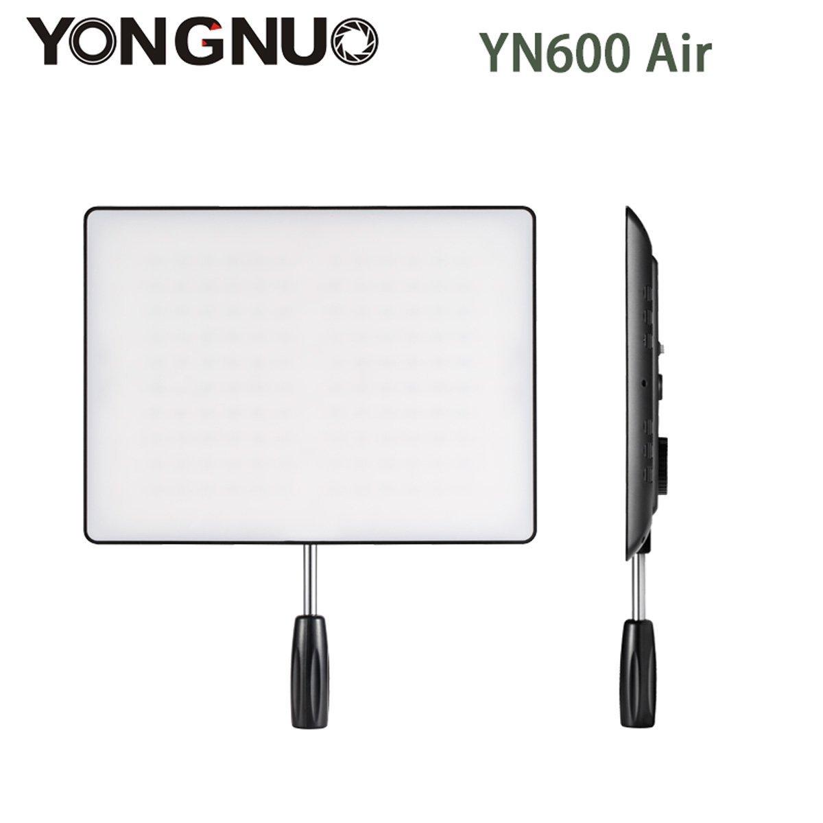 YONGNUO YN600 Air Ultra mince caméra LED lumière vidéo 3200 K-5500 K pour Canon Nikon Pentax Olympas Samsung DSLR & caméscope