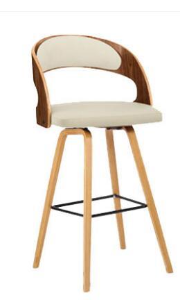 Solid wood bar chair leisure creative high stool personality bar chair modern simple backrest high stool. high quality 42cm 62cm 72cm nordic bar stool bar chair creative coffee chair gold high stoolgolden modern leisure metal chair