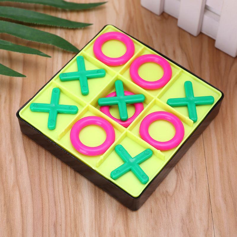Juego de piezas de ajedrez de plástico O X Tic Tac Toe, rompecabezas para niños, herramienta de desarrollo de inteligencia educativa temprana para bebé, herramienta de ejercicio