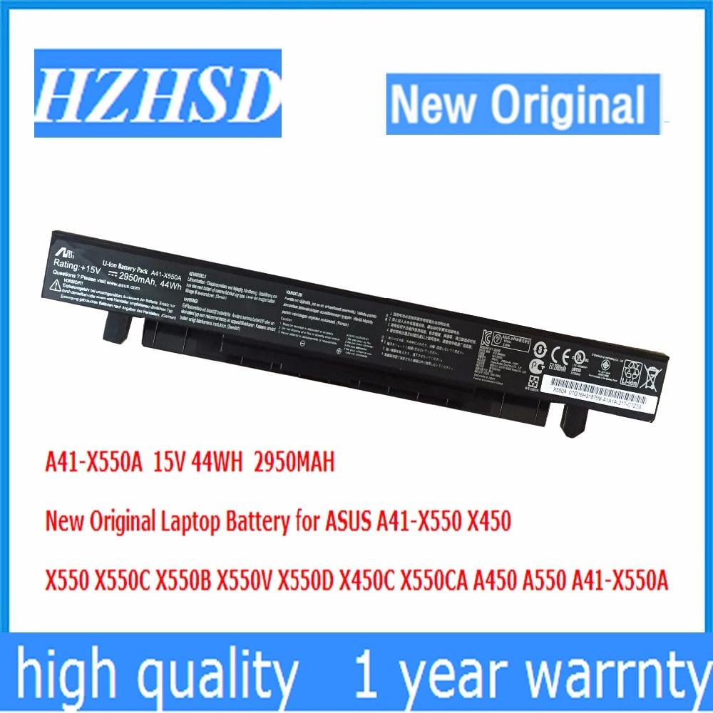 15V 44WH  2950MAH New Original A41-X550A Laptop Battery for ASUS X450  X550 X550C X550B X550V X550D X450C X550CA A450