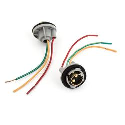 Uxcell 2 pcs 1157 BAY15D Turn Signal Brake Light Bulb Soquete Conector do Chicote de Fio