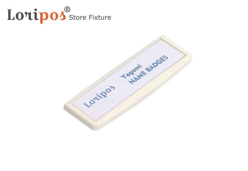 75x20mm Magnetic Style Office Name Holder Tag Metal Material Strong Magnetic More Fastener Name ID Tag Badge
