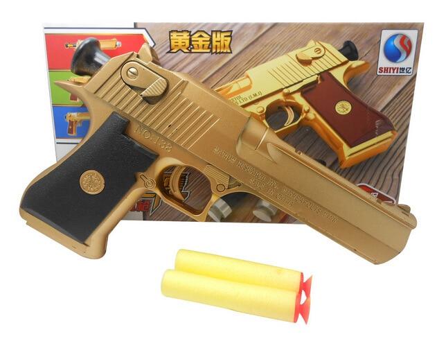Pistola de juguete de Águila del desierto de pistola de aire 2017 compatible con balas suaves y de cristal mejor regalo para fanáticos militares