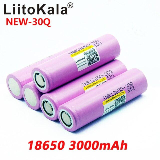 8 pièces Liitokala 18650 Original 3000 mAh batterie INR18650 30A 10A télécharger batterie Li-ion Rechargeable