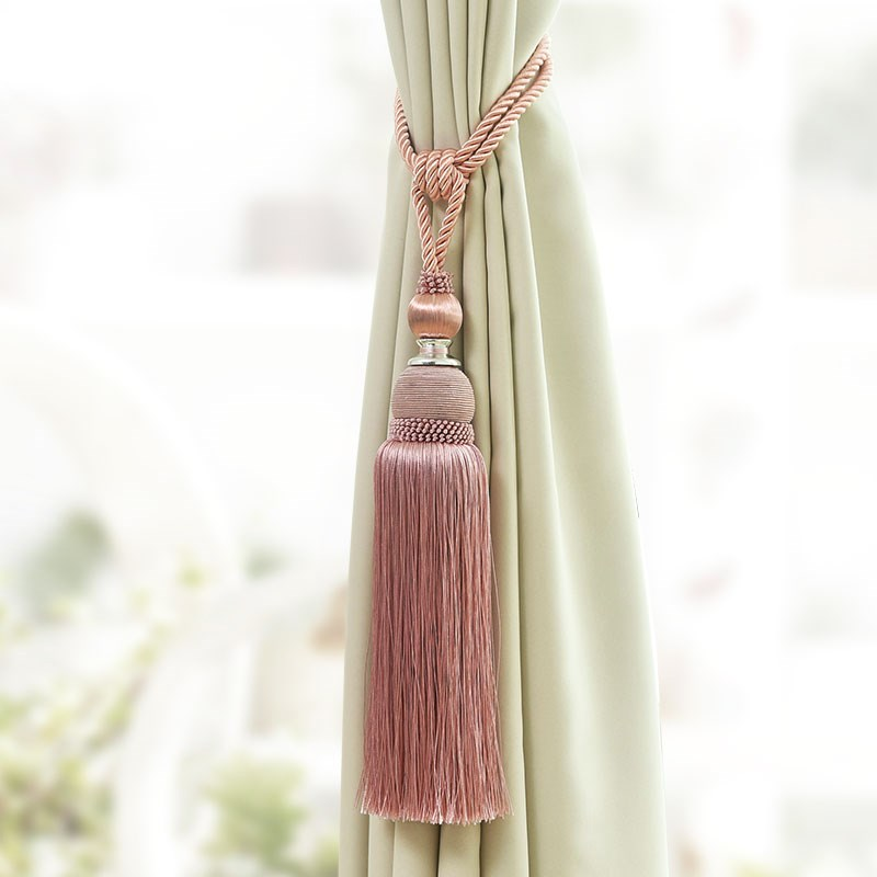 1 pçs acessório casa janela cortina clipe acessórios pendurado cinto bola cortina cinta caqui cortina vermelha tassel tieback cp085 * 30