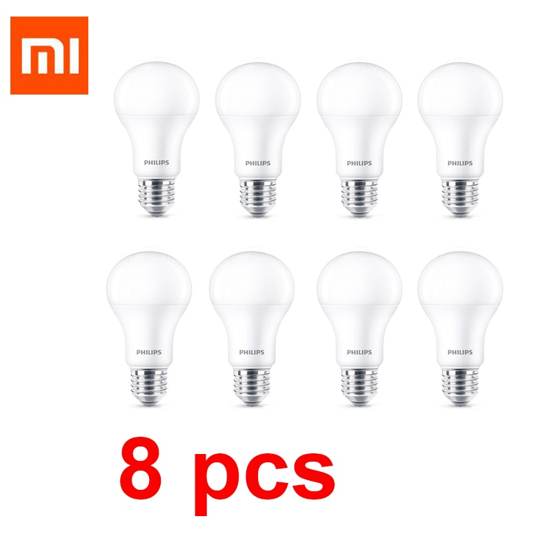 Xiaomi-Lámpara de 8W MIJIA 6500K, para Chip de tecnología Philips, 800lm, 220-240V, bola LED de bajo consumo, Base E27, no inteligente
