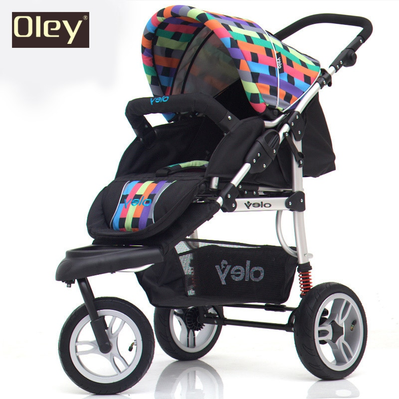 Carrito de bebé, cochecito para niños, paisaje alto, excelente suspensión 3 ruedas triciclo driewiller cochecito de bebé