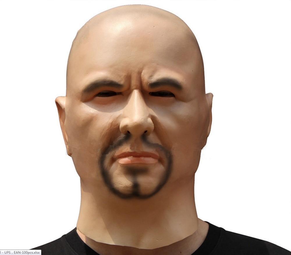 Экологичная страшная Реалистичная латексная маска, черная маска для мужчин, маскарадный реквизит для Хэллоуина, аксессуары для костюмов