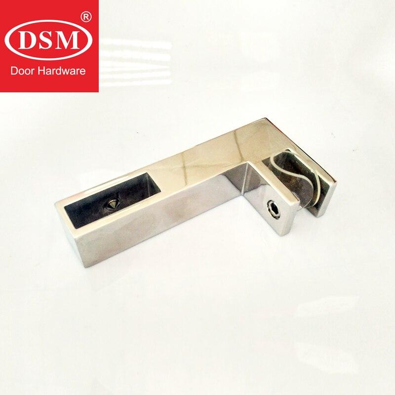 Esmalte de acero inoxidable cuarto de ducha conector de barra fija clip colgante DC-231-L para el vidrio grueso de 8-10mm