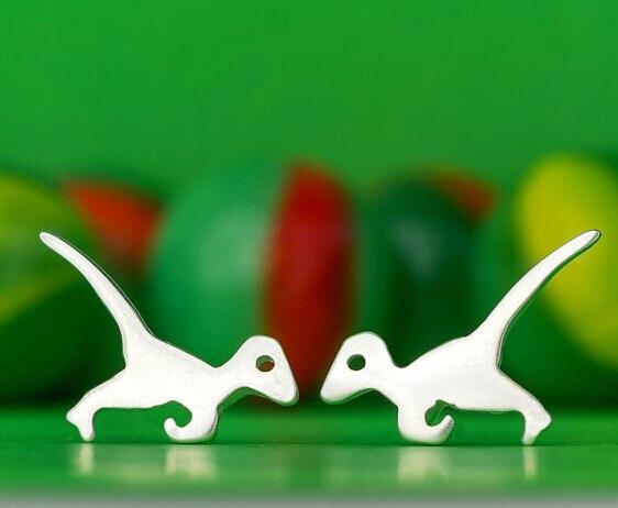 Women's Animal Earrings Velociraptor Dinosaur Stud Earrings