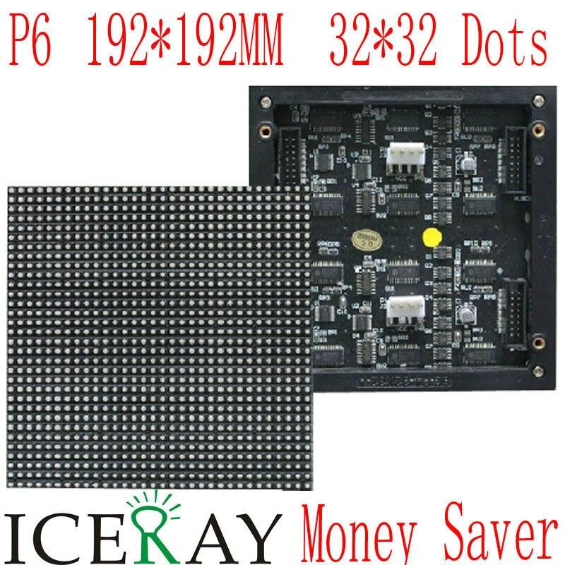 Un P6 192*96mm * 32*16 píxeles interior 1/8 escanear 3in1 SMD RGB LED A todo color para para interiores P6 pantalla led