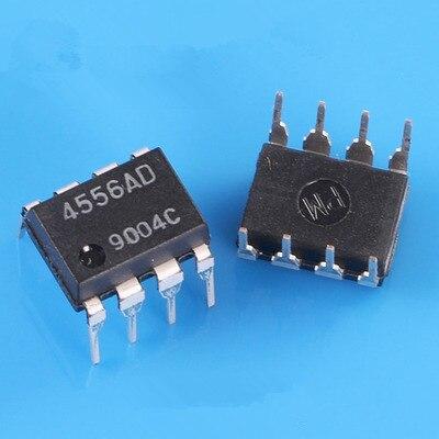 10 teile/los 4556AD NJM4556AD JRC4556AD DIP8 Integrierte Schaltkreise    -