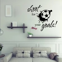 shoot for your goals sports vinyl wall sticker quotes kids boy room decal decor 9151