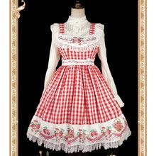 Plaid rouge fraise imprimé Lolita coton JSK robe par Infanta ~ pré-commande