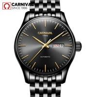 Luxury Carnival watch men stainless steel waterproof Automatic machine date week black wristwatch relogio feminine