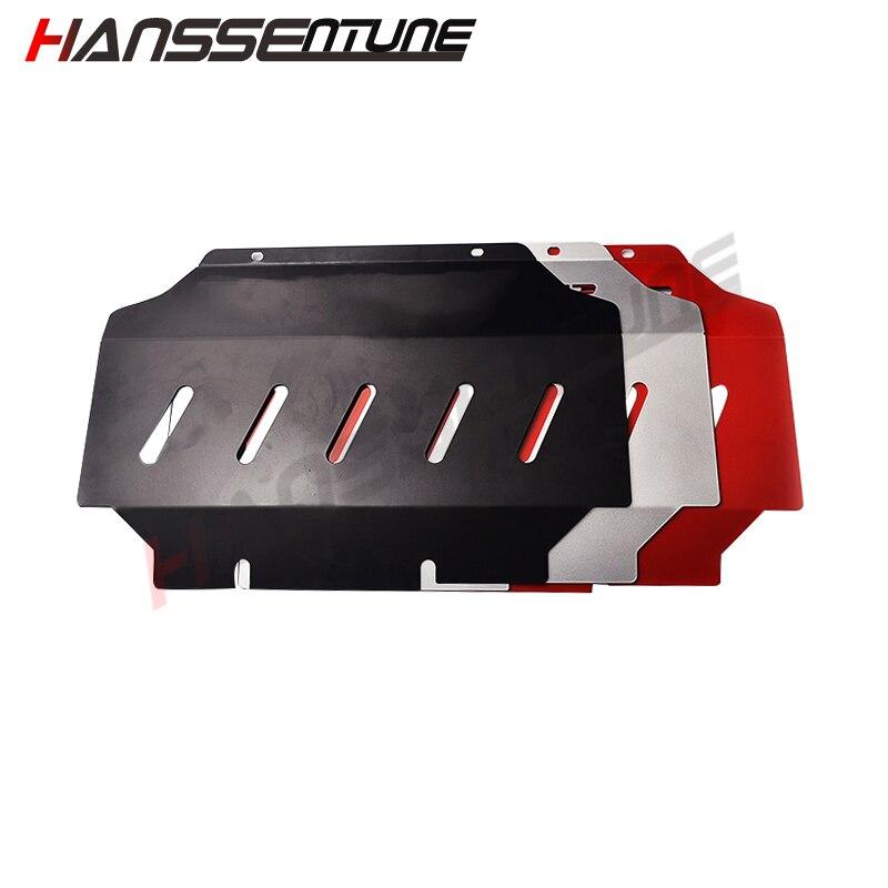 HANSSENTUNE 4x4 Pick up accesorios protección de motor de protección frontal acero rojo Placa de deslizamiento para Ranger T6 T7 2012 +