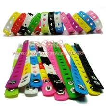 En gros 500 pièces 17 couleurs Silicone Bracelet Bracelet 18cm ajustement chaussure croc boucle chaussure breloques chaussures accessoires enfants fête cadeau