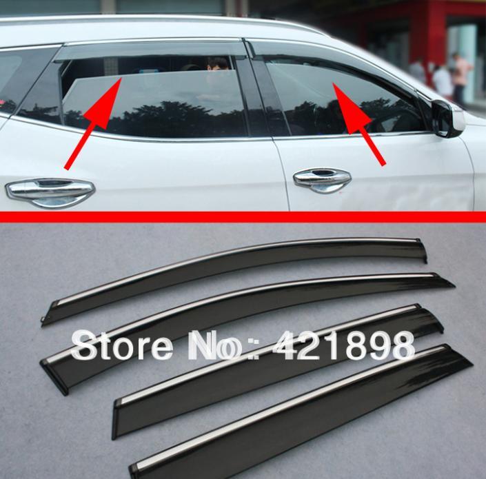 For Hyundai Santa Fe IX45 2013 2014 2015 2016 Window Wind Deflector Visor Rain/Sun Guard Vent
