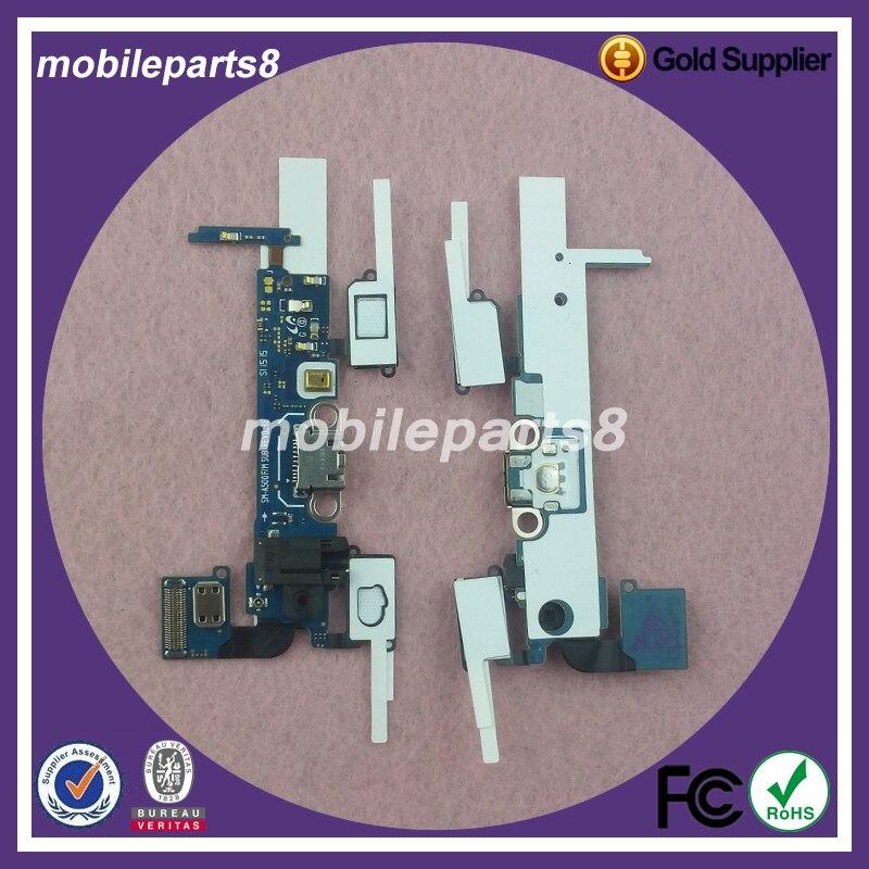 10 unids/lote puerto de carga USB Dock Connector Flex reemplazo para A3000 A5000 A7000 A300F A500F A700F del muelle del cargador conector Flex