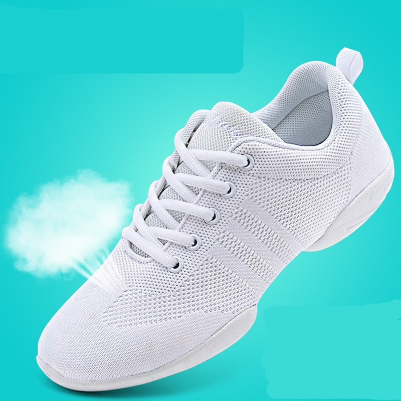 Competitive Aerobics Shoes Woman Soft Bottom Cheerleading Sneakers Shoes Training Square Dance Shoes