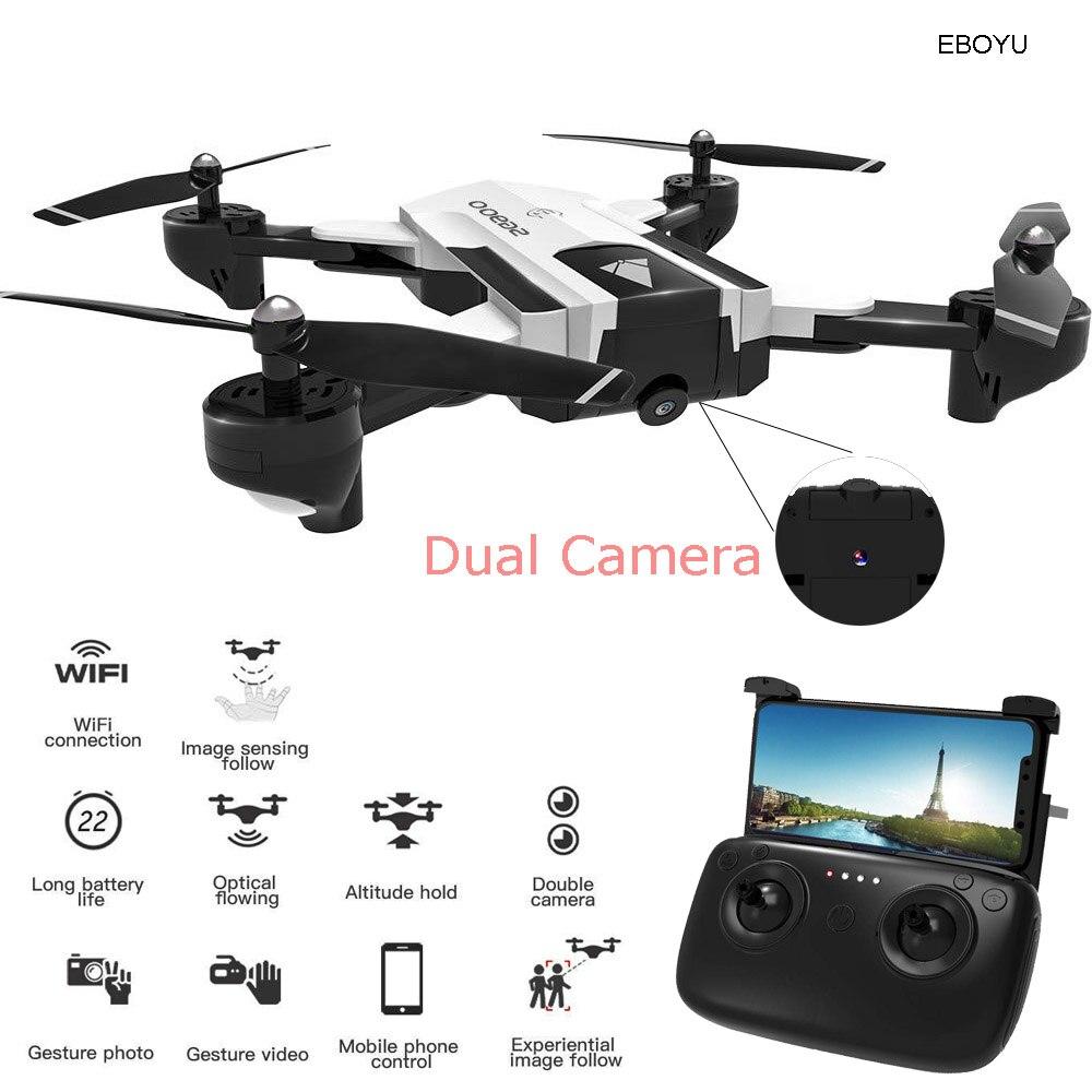 EBOYU SG900 RC Drone 720P de flujo óptico Dual Cámara RC Quadcopter Drone Me sigue altitud plegable Drone RTR-22 min
