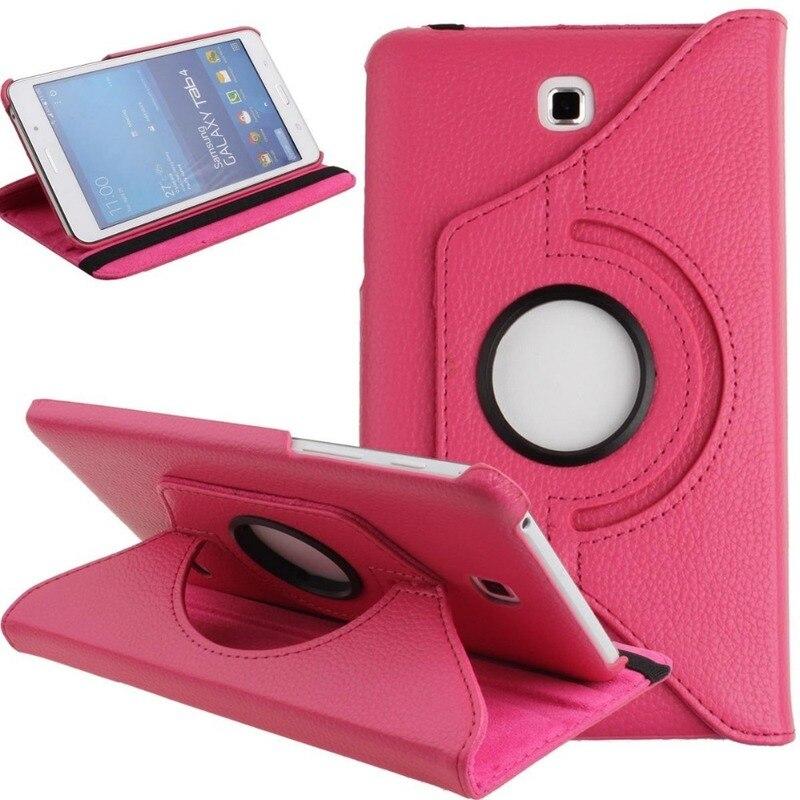Вращающийся на 360 градусов Чехол-книжка из искусственной кожи для Samsung Galaxy Tab 4 7,0 T230 T231 T235 SM-T230 SM-T231 7 дюймов чехол для планшета