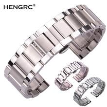 Stainless Steel Watch Strap Bracelets Men High Quality Silver Metal 18 20 21 22 23 24mm Fashion Women Watchbands Accessories
