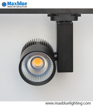 45W Black/White Housing High CRI 80Ra CREE COB LED Track Light