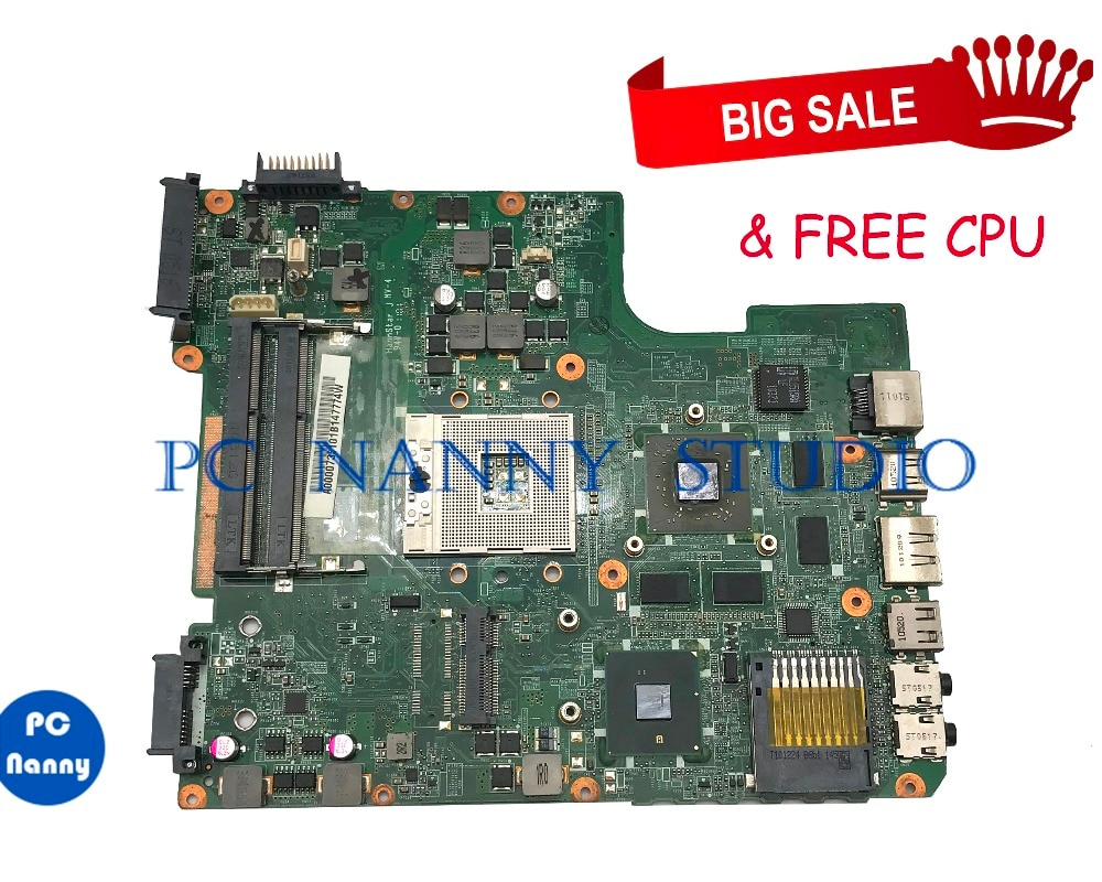 PCNANNY для Toshiba Satellite L645 материнская плата для ноутбука A000073510 DATE2DMB8F0 HM55 DDR3 Протестирована