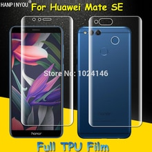 Front / Back Full Coverage Clear Soft TPU Film Screen Protector For Huawei Mate SE 5.93