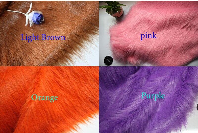 Buona qualità 9 cm mucchio felt cloth, faux fur tessuto, tessuti patchwork, tessuto per cucire, sintetico tessuto pelliccia, 150 cm * 50 cm/pc
