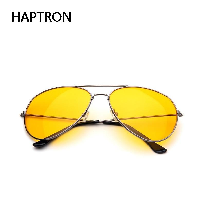 HAPTRON Yellow Sunglasses Women Men  Night Vision  Goggles Driving Glasses Driver Aviation Sun Glass