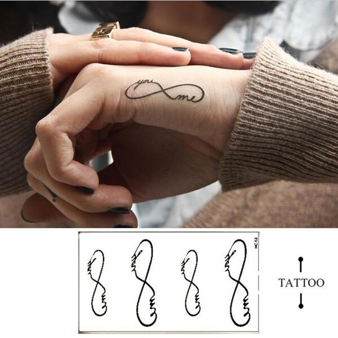 Tatuaje temporal a prueba de agua pegatina geométrica tatuaje de transferencia al agua tatuaje falso tatuaje Flash para Unisex