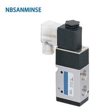 NBSANMINSE 3V310 3V320 série G3/8 électrovanne deux positions   Vanne pneumatique à trois voies simple, Double bobine, Type AIRTAC