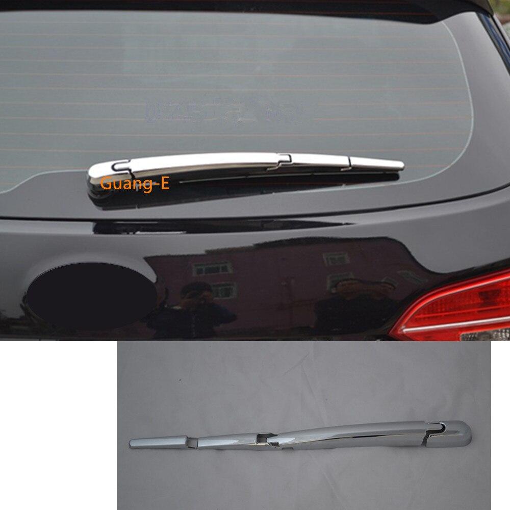 ABS cromado para parabrisas trasero de coche, boquilla de lavado, embellecedor de marco, moldura de ventana trasera, 4 Uds para Hyundai IX45 SantaFe Santa Fe 2013-2018