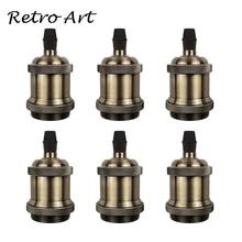 Vintage Lampe Socket Edison Schraube lampe Halter E27 Birne Basen