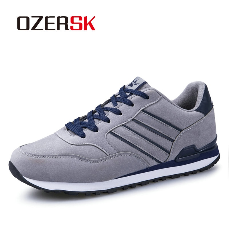 Ozersk vaca camurça homem tênis moda verão ao ar livre sapatos masculinos casuais sapatos confortáveis para homem mais tamanho 38-45