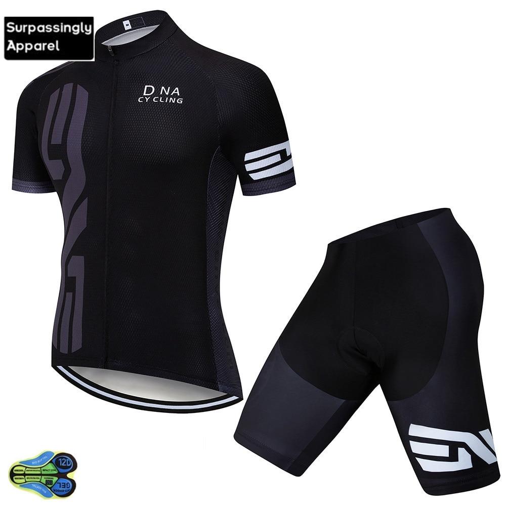 Equipo 2019 negro personalizado Ciclismo JERSEY 12D bicicleta pantalones cortos conjunto Ropa Ciclismo hombres verano rápido seco Pro bicicleta Maillot Pantalones ropa