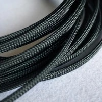 free shiping high quality 20meterslot three wire encryption 4mm black expandable braided tube mesh woven pet braided tube