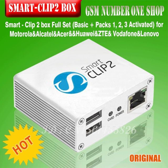 Smart Clip 2 BOX  with Packs 2, 3, 4, 5 ,6,7 Activated Supports 4900 cell phone models