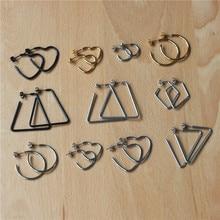 316 L Stainless Steel Women Geometric Heart C Stud Earrings Good Quality No Fade Allergy Free