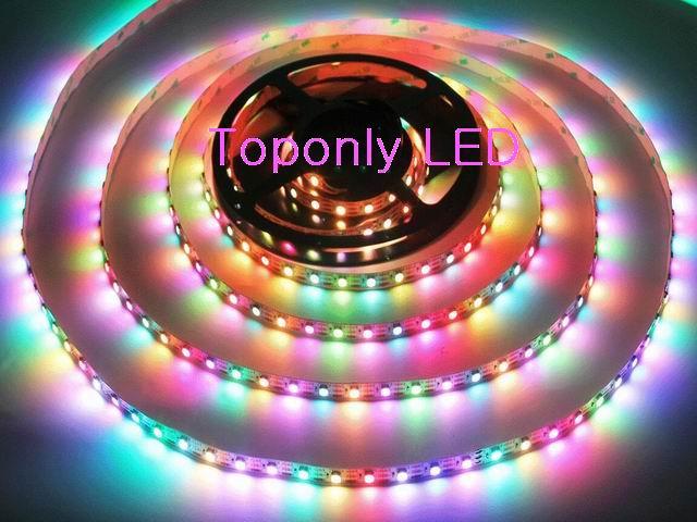 DC5V 2812IC Digital Flexible LED tira IP68 impermeable SMD5050 RGB cinta de luz 60 leds/m 3 m/carrete 10/lote DHL envío gratis