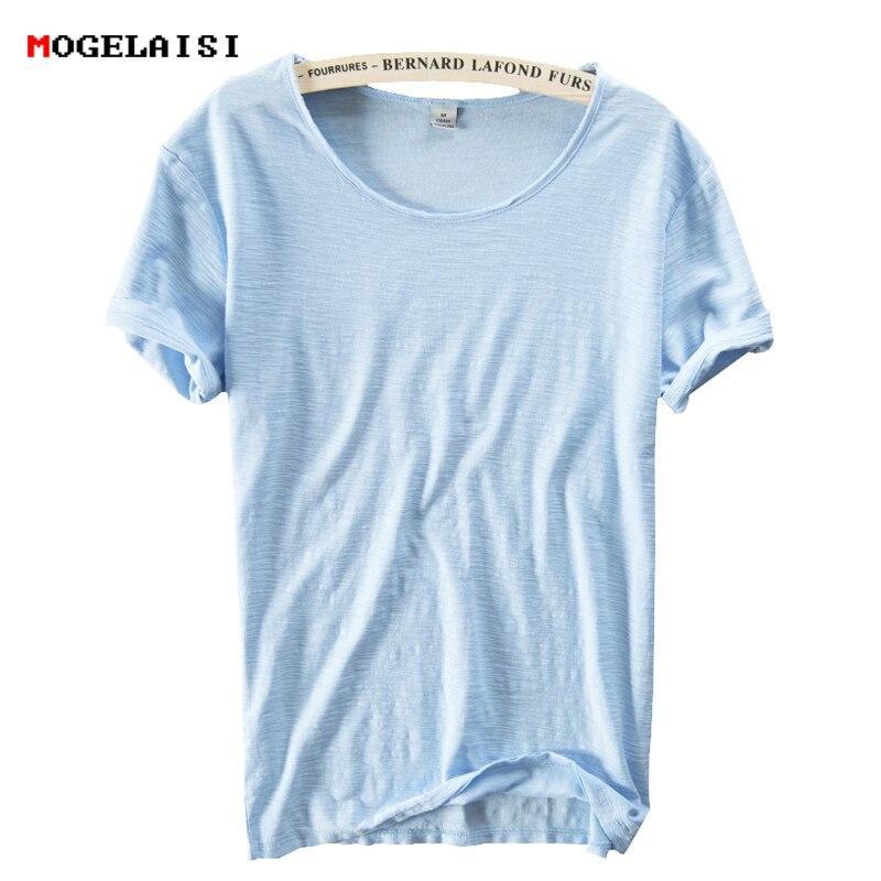 ¡Novedad de 2020! Camiseta de lino de verano para hombre, camiseta de manga corta con cuello redondo, transpirable, 100%, lino, algodón, blanco suave, camiseta de alta calidad 213