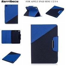 Combo couleur PU cuir housse pour apple Ipad mini 1/2/3/4 étui pour tablette coque etui husa kryt funda tok puzdra coque tasche