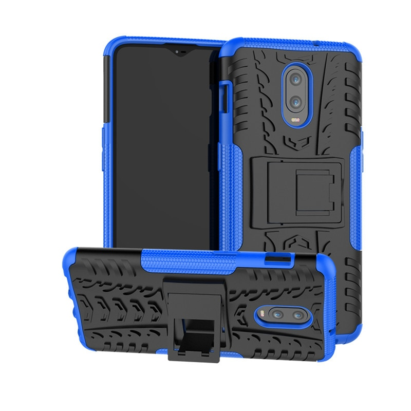 For Oneplus 6T Case Silicone Hard PC Heavy Armor Bumper Phone Holder Anti-knock Phone Case For Onepl
