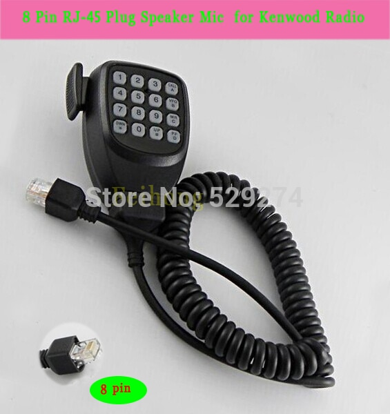 Nuevo 8 Pin Rj-45 altavoz micrófono para Kenwod Radio Tk-868g Walkie Talkie dos vías Cb Ham Radio