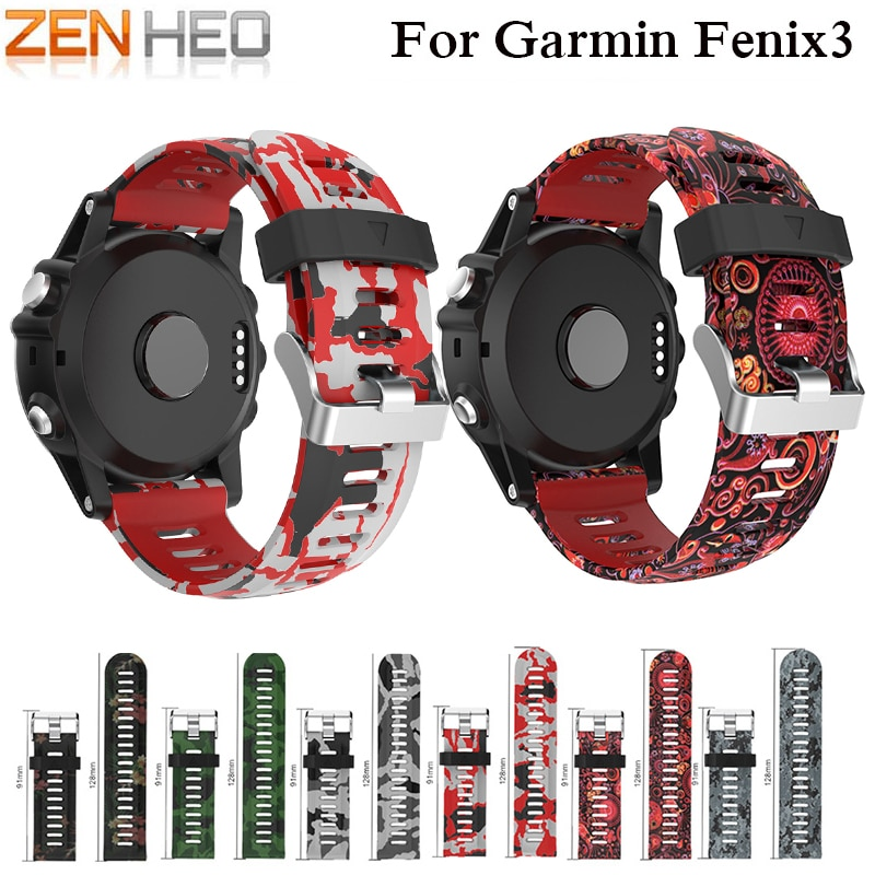 ZENHEO 26 мм ширина ремешок для часов Garmin Fenix 3 ремешок для спорта на открытом воздухе силиконовый ремешок для часов Garmin Fenix 3/Fenix 5X наручные часы