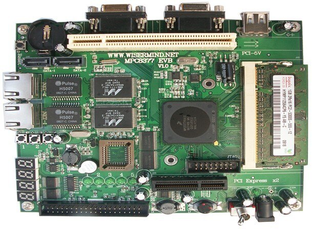 Tarjeta de desarrollo PowerPC/MPC8377 versión Linux Freescale PCI-E SATA